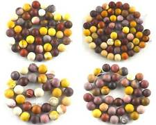 Natural Frost Mookaite Jasper Round Loose Gemstone Beads 15''