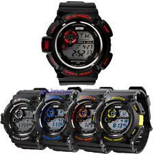 Waterproof LED Digital Alarm Date Mens Wrist Watch Military Sport Analog Watch