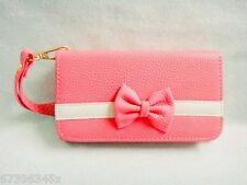 Bowknot Bow Girl Leather Wallet Purse Flip Case Cover FOR Mobile Smart Phones 4