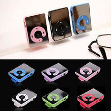 Mini Portable Mirror Clip Metal USB MP3 Music Player Support 8GB SD TF Card