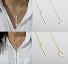 Womens Hot Fashion Simple  Alloy Y Shaped Choker Statement Jewelry Necklace