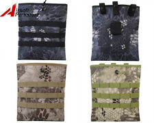 Tactical Military Airsoft Hunting Camo Molle Belt Magazine Dump Drop Pouch Bag B