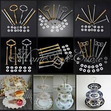 5 Sets 2 or 3 Tier Cake Plate Stand Handle Fitting Hardware Rod Wedding Party