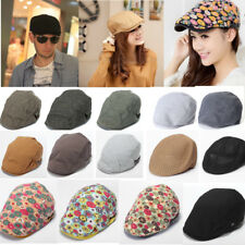New Vintage Newsboy Cabbie Gatsby Hat Men Flat Cap Cotton Golf Driving Beret Hat