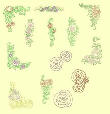 FLORAL MACHINE EMBROIDERY DESIGNS COLLECTION-7 sets