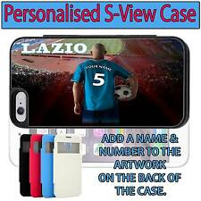 PERSONALISED UNOFFICIAL LAZIO iPHONE S VIEW FLIP CASE GIFT