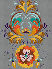 Rosemaling Borders 5x7 hoop Only - Machine Embroidery Designs Set of 10 On CD