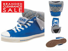 BNWT New Mens Converse Padded Collar Peel Back Suede Trainer shoe Blue