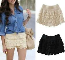 New Sexy Womens Sweet Girl Lace Safety Pants Short Tiered Slim Skirts Dress Soft