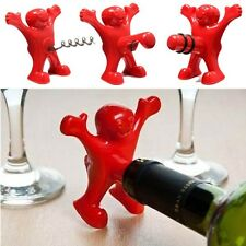 New Kitchen Bar Red Fun Happy Man Wine Beer Soda Bottle Novelty Opener Stopper