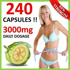 240 ◆ UK CHEAPEST WEIGHT LOSS GARCINIA CAMBOGIA CAPSULES 3000mg DAILY HCA 62%