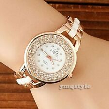 Women Ladies Fashion Rose Gold Designer Crystal Quartz Bracelet Wrist Watch Gift