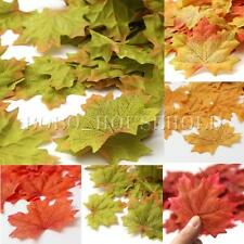 100X Artificial Fall Leaves Wedding Favor Autumn Maple Leaf Home Decor Ornament