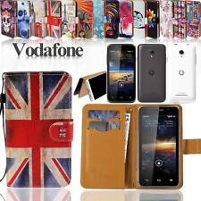 New Folio Flip Wallet Card Stand Leather Case Cover For Various Vodafone Phones