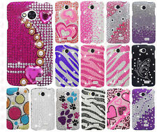 For MetroPCS LG Optimus F60 Crystal Diamond BLING Hard Case Phone Cover