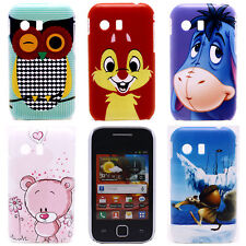 Cute Owl Pink Bear Image Hard Back Shield Case Cover for Samsung Galaxy Y S5360