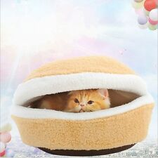 Two Sizes Hamburger Bed Kitty Kennel Shell Cat Pet  Cosy Sleeping Bag Popular S