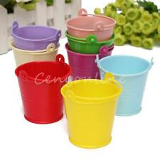 10pcs Mini Buckets Candy Favours Pails Buckets Wedding Party Gifts Multi-Colour