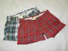 Women's Abercrombie & Fitch Green or Red Plaid Shorts - Sz 00, 0, 2, 4 - NWT