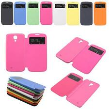 Flip Leather Front View Battery Back Cover Case for Samsung Galaxy S4 SIV i9500