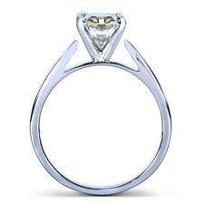 Round Moissanite Solitaire Ring 1 Carat (ctw) in 14k White Gold