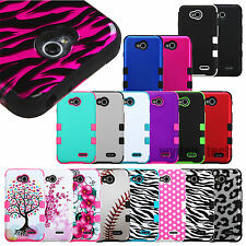 Hard Rugged Armor Impact Heavy Duty Tuff Soft Skin Case Cover For LG Phones