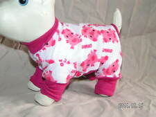 Pink pigs oink DOG PJS 4 legged Flannel Pajamas pet apparel TC XXS XS or S