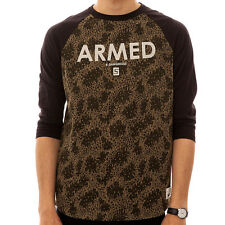 Crooks and Castles The Armed Knit Raglan in Camo and Black NWT Crooks