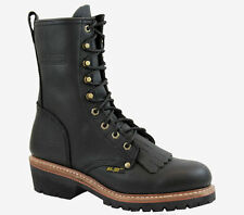 HYPARD ADTEC 1964-M Men Black Military Fireman Logger Medium Width Mid Craf Boot