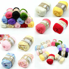 High Quality 50g 1 Skein Natural Cotton Silk Baby Sweater Soft Yarn Knitting New