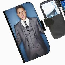 Olly Murs Leather wallet phone case for Samsung Galaxy Active Alpha Note