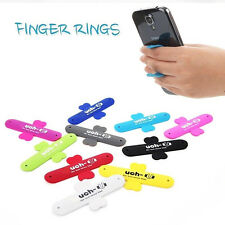 Universal One Touch U-wing design silicone Holder stand BH for Mobile SmartPhone