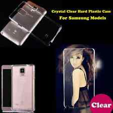 Crystal Clear PC Transparent Hard Plastic Back Case Cover For Samsung Cell Phone