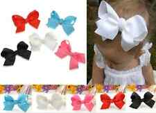 baby girl grosgrain ribbon bow hair clip pin flower clips Hair Accessories new