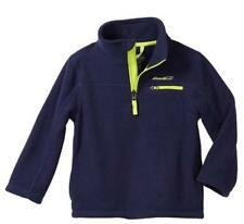 NEW EDDIE BAUER BOYS 1/4 ZIP MICRO POLAR FLEECE PULLOVER --VARIETY!!