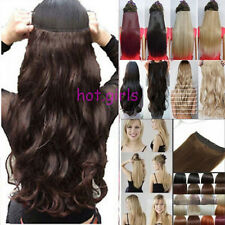 US Any Colors 3/4 FULL HEAD Real Thick CLIP IN HAIR EXTENTIONS Straight Wavy G64