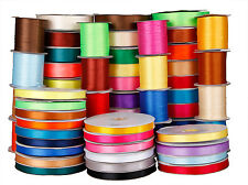 "25/50/750Yds 1/8"" 1/4"" 3/8"" 5/8"" 1 1/2"" Satin double face Ribbon many colors gsm"