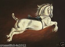 LIPIZZANER HORSE CAPRIOLE  COUNTED CROSS STITCH PATTERN