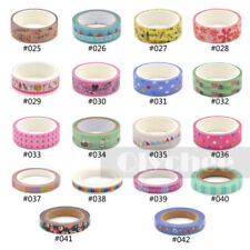 1X 2015 New Design Washi Tape DIY Decor Sticky Adhesive Scrapbooking  Collection