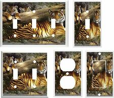 BENGAL TIGER FAMILY #2  IMAGE LIGHT SWITCH COVER PLATE OT OUTLET U PICK