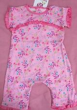 Girls Boutique NEW NWT BABY LULU Ruffle Romper 24 months Pink Floral Simone