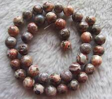 6mm 8mm 10mm Leopard jasper Round Loose Beads Spacer DIY Jewelry Making 15.5""