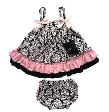 Girls Baby Ruffles Top Pants Nappy Bloomers Outfits Dress Sets Costume SZ 6-24M