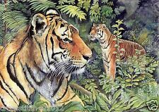 PAIR OF TIGERS IN THE JUNGLE BIG CATS COUNTED CROSS STITCH PATTERN