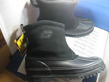 NEW Skechers Men's Revine 72051 BBK NORTH SUMMIT WATERPROOF INSULATED BOOTS