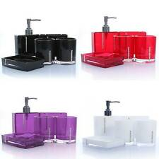 5pcs Bathroom Accessories Set Shower Soap Dispenser Toothbrush Holder Wedding