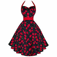 Hearts & Roses London Black Cherry Rockabilly Vintage 50s Flared Sun Dress