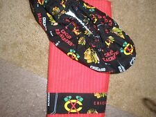 CHICAGO BLACKHAWKS  BOWLING SHOE COVERS-- & FIBRE TOWEL