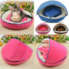 Cute Dog Cat Pet Bed House Kennel Doggy Warm Cushion Pillows Basket Detachable