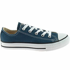 BOYS GIRLS KIDS CONVERSE NAVY OX LOW ALL STAR UNISEX CANVAS TRAINERS 3J237